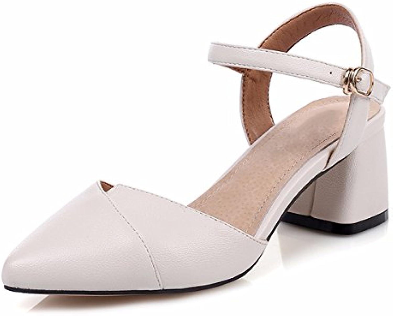 Sandalette-DEDE Fondo Grueso Muffin Shoes, Casual Zapatos de Mujer, Zapatos de Suela Plana, Pearl, Suela Gruesa, si los Zapatos, los Zapatos de Las Mujeres Ocasionales,Blanco,Treinta y Nueve US8 / EU39 / UK6 / CN39|white