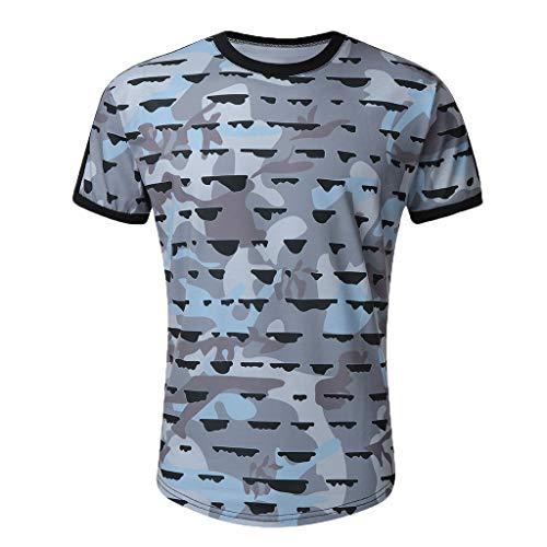 SuperSU-Herren tops ►▷ Sommer Einfach Mode Tops für Männer Kurzarm Lässiges Persönlichkeit Print T-Shirt Tops Täglich Oberteil Pulli Bequeme Casual Bluse für Laufen Dating Arbeit