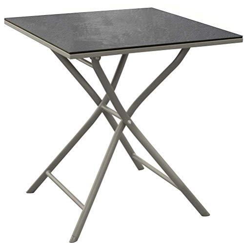 Proloisirs - Table Pliante en Aluminium Azuro 70 cm Taupe