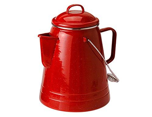 GSI Freien Pioneer Kaffee Boiler 36Cup, 1304.1461, rot - Gsi-enamelware