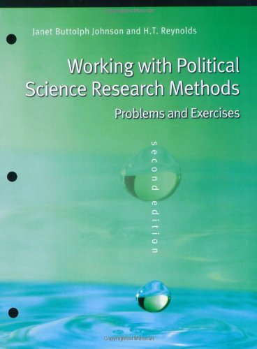 Working with Political Science Research Methods: Problems and Exercises
