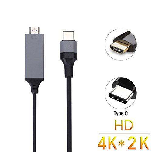 Shage USB-C USB 3.1 Typ-C Stecker HDTV HDMI Stecker Kabel 4K Adapterkabel für MacBook Pro Samsung Galaxy S8 / S8 + (Schwarz) - Macbook Kabel Hdmi-abs