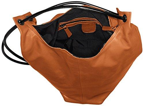 Lilimill INES Damen Rucksackhandtaschen 26x38x12 cm (B x H x T) Braun (Braun (BRICK) BRI)