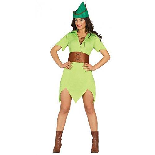 Weiblicher Robin Hood, Erwachsene, Grösse XS-S (Für Erwachsene Weibliche Robin Kostüm)