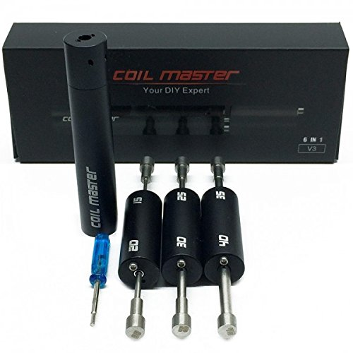 Original Coil Master Coiling Kit, neue Version 3, 6 in 1 Coiler, rechts- u. links-Wicklung, Wickelhilfe