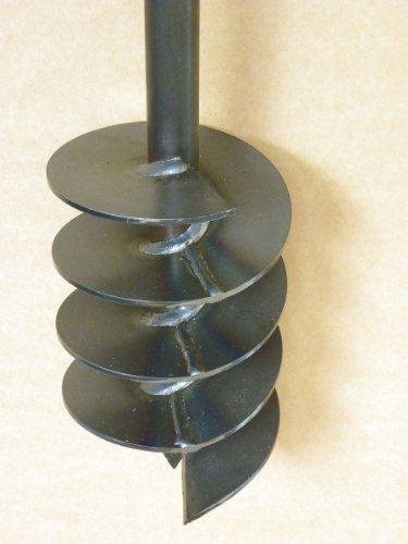 Erdbohrer Erdlochbohrer Brunnenbohrer Pfahlbohrer Handerdbohrer 150 mm Bohrkopf Bohrgerät f. Brunnen und Rammfilter