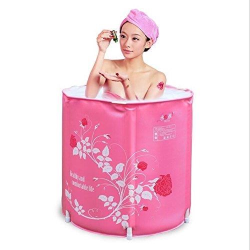 NabothT faltbare Badewanne dicker Badewanne nach Badewanne Kunststoff aufblasbare Badewanne Whirlpool 65 * 70 CM