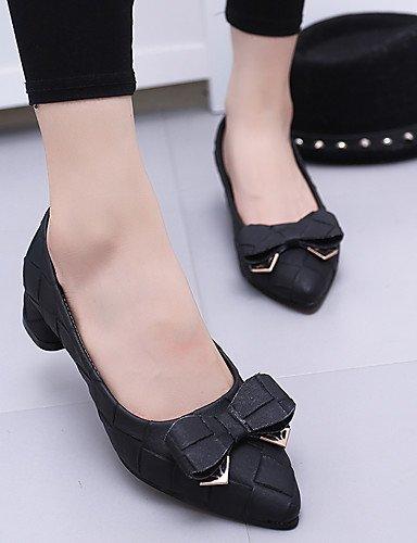WSS 2016 Chaussures Femme-Bureau & Travail / Décontracté / Soirée & Evénement-Noir / Vert / Gris / Beige-Gros Talon-Talons / Bout Pointu- black-us5.5 / eu36 / uk3.5 / cn35