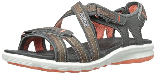 Ecco ECCO CRUISE, Damen Sport- & Outdoor Sandalen, Grau (DARK SHADOW/CORAL58925),35 EU (3 UK)