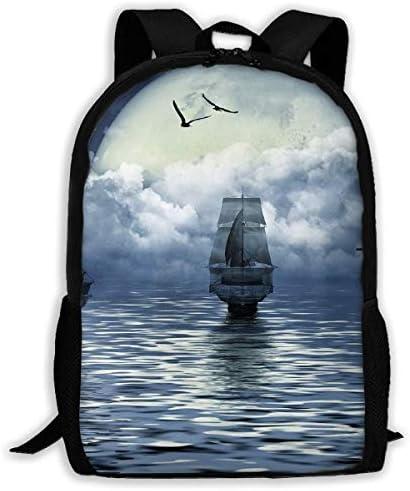 Adult Casual Backpack School Bags Bags Bags Oxford Laptop Backpack Unisex Sailboat Travel Daypack | Lasciare Che I Nostri Beni Vanno Al Mondo  | Ben Noto Per Le Sue Belle Qualità  | Prestazioni Affidabili  452647