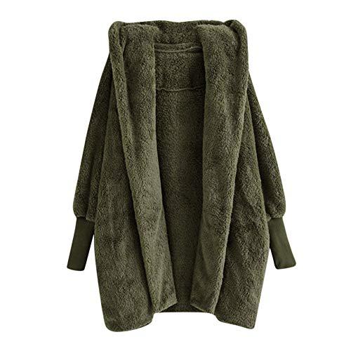 Riou Kapuzenjacke Damen Oversize Mäntel Elegant Winter Hoodie Locker Pullover Lang Grosse Grössen...