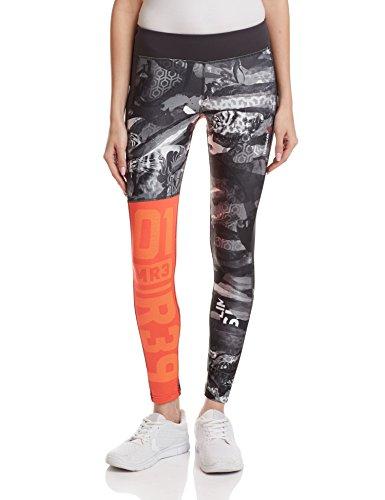 Reebook OS Elite Mesh Tight–Pantaloni per Donna Rojo (Lasred)