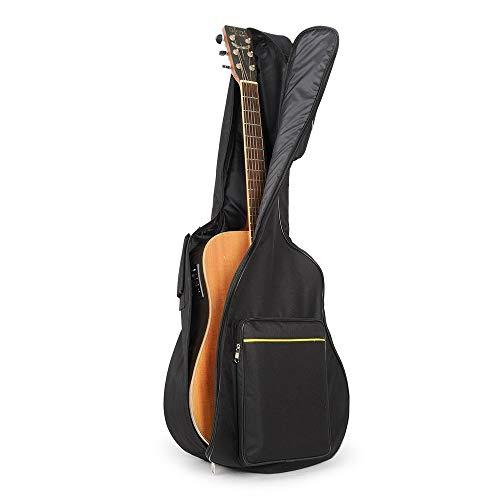 UBEGOOD Gitarrentasche, Guitar Soft Case Oxford Wasserdicht Stoßfest gepolsterte Gitarrenhülle für 41 zoll Akustikgitarre und Klassikgitarren - Schwarz (Possibles Tasche)
