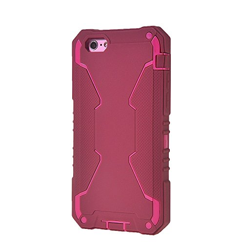 iPhone 6 6S h¨¹lle,COOLKE [Light Blau] Sto?fest Doppelschutz Duty Schutzh¨¹lle mit St?nder Cover Case f¨¹r Apple iPhone 6 6S (4.7 inch) Rote