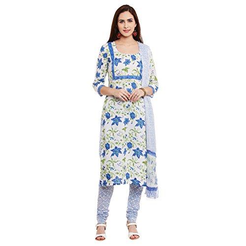 Pinkshink White Cotton Salwar Kameez Dress Material k92