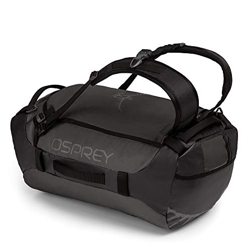 Osprey Transporter 40 Unisex Durable Duffel Travel Pack with Harness and Detachable Padded Shoulder Strap - Black (O/S)