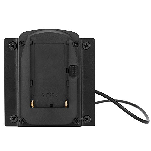 Andoer Batterie Adapter-Grundplatte für Lilliput Monitore für FEELWORLD Monitoren kompatibel für Sony NP-F970 F550 F770 F970 F960 F750 Akku