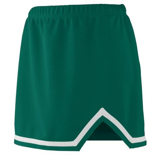 (Girls' Energy Skirt DARK GREEN/WHITE XXS)
