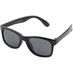 Cheapass Occhiali da Sole Wayfarer Opaci Lenti Specchiati Neri Arancioni 100% UV400 Protetti
