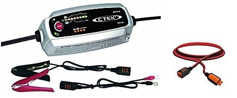 CTEK MXS 5.0 Autobatterie-Ladegerät mit automatischem Temperaturausgleich, 12 V +