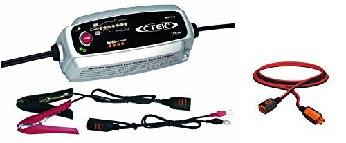 Preisvergleich Produktbild CTEK MXS 5.0 Autobatterie-Ladegerät mit automatischem Temperaturausgleich, 12 V + Verlängerungskabel