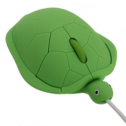 Pinzhi Lindo Tortuga Moda de Animados USB Ratón ( Verde )