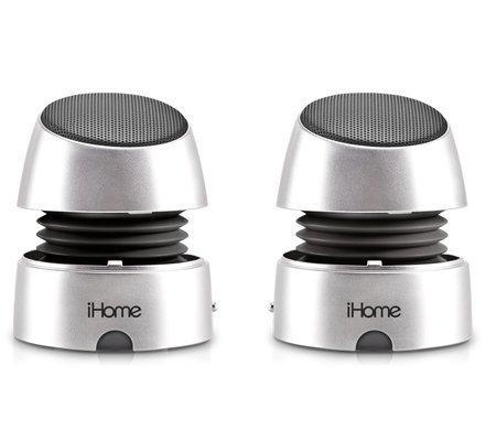 Ihome ihm76gx Ihm76 Rechargeable Mini Speakers Silver