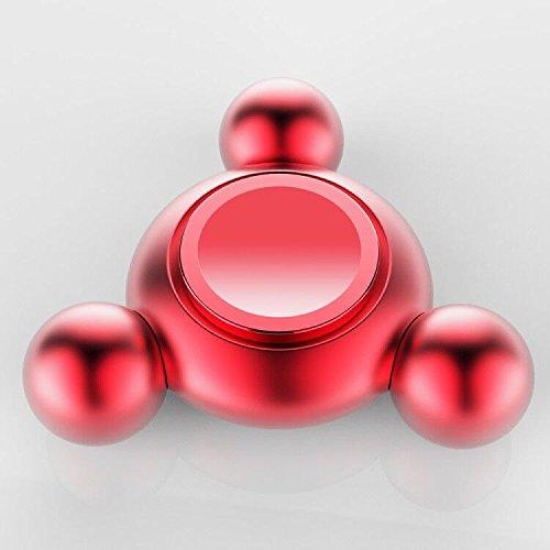 #Premium UFO Aluminum Fidget Spinner in ROT, Hersteller: 2-TECH#