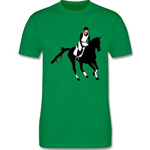 Reitsport - Vielseitigkeitsreiten - Herren Premium T-Shirt Grün