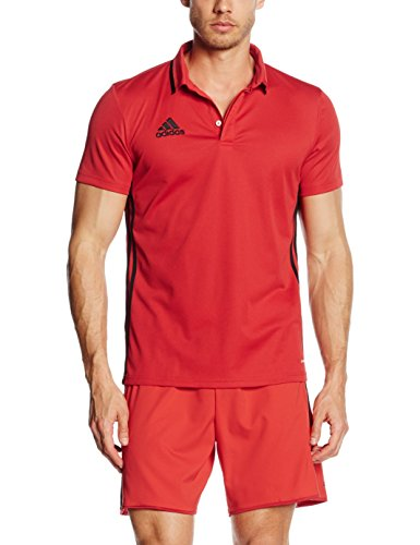 adidas Herren Poloshirt Condivo 16 CL, Scarlet/Black, M, AJ6898