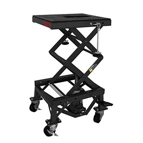 Dirty Pro Tools Professionelle Hydraulische Scherenheber für Motorräder, 300 kg, mit Rädern