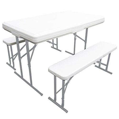 Saturnia 8043830 - Conjunto plegable con mesa y 2 bancos