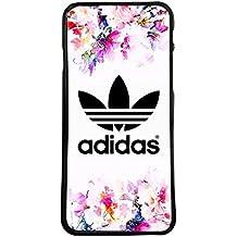 Carcasas de moviles fundas de movil de TPU compatible con samsung galaxy note 8 adidas marca deporte logotipo flores