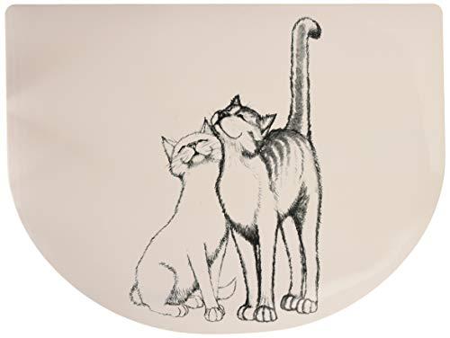 Trixie 24540 Napfunterlage, Schmusekatzen, 40 × 30 cm, weiß