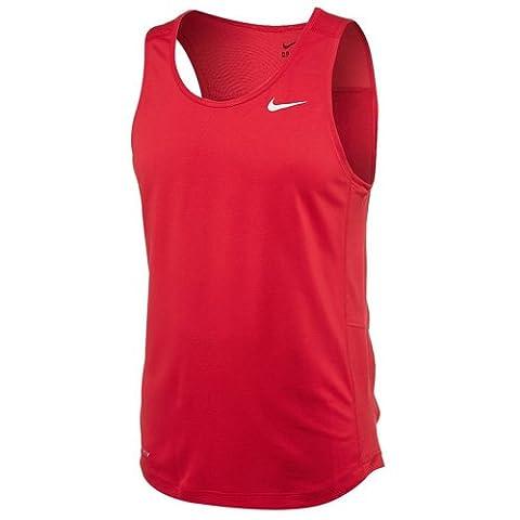 Nike Miler Singlet Stick Ii T-Shirt homme XL Rojo / Blanco (Tm Scarlet/Tm White)