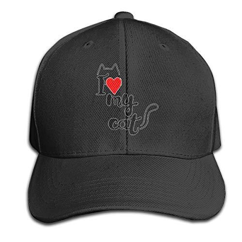 Osmykqe Love My Cat Leichte atmungsaktive Outdoor-Laufmütze Athletic Baseball Fitted Caps für Herren - Armee Camo Fitted Hut