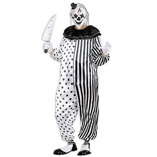 Kostüm Halloween Clown Böser - Widmann 01611 Kostüm Killer Clown, Schwarz/Weiß, S