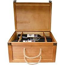Madera de pino 6 botellas regalo caja de almacenamiento caso Holder (us134)