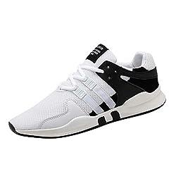 REALIKE Herren Sneaker Laufschuhe Mode Mesh Dicke Sohle Atmungsaktiv Gym Turnschuhe Leichtgewicht Freizeitschuhe Trainer Outdoor Shoes Straßenlaufschuhe Running Fitness Schuhe