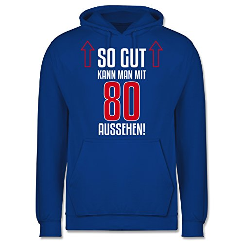 Geburtstag So gut kann man mit 80 aussehen Männer Premium Kapuzenpullover /  Hoodie Royalblau