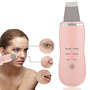 Limpiador de poros,USB Eléctrico a Blackhead Crema Hidratante Facial Atomizada(Rosa)