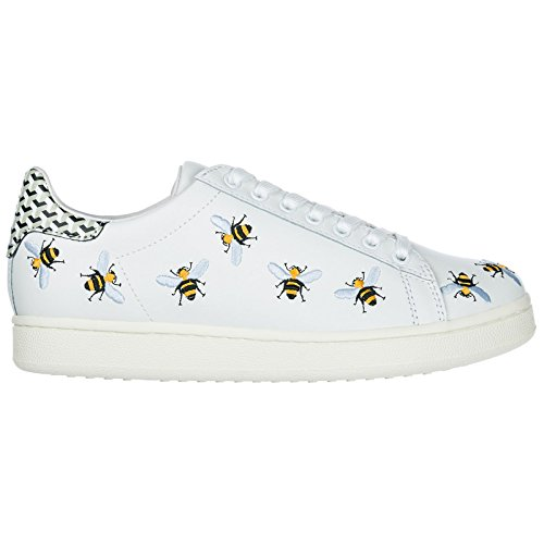 MOA Master of Arts Chaussures Baskets Sneakers Femme en Cuir Tennis Bee Blanc