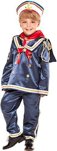 COSTUME di CARNEVALE da MARINAIO BABY vestito per bambino ragazzo 1-6 Anni travestimento veneziano halloween cosplay festa party 28044 Taglia 5