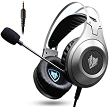 Jisen Gaming Headset Surround Stereo Wired Gaming Headphones With Microphone And Volume Control For PC/Ps4/Xbox One/Phone/Laptop (3.5mm Plug)