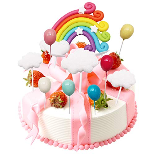 LAOZHOU Wolke Regenbogen Ballon Kuchen Topper Kit Kuchen Dekoration Kinder Mädchen Geburtstag Baby Shower Hochzeit Backen Dekoration Lieferungen