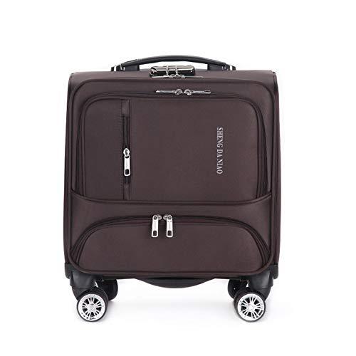 JBAG-one Männer Rolling Laptop Bag, Rolling Aktentasche für Frauen, Koffer, Gepäck mit Rädern 18 Zoll weitermachen,Brown -