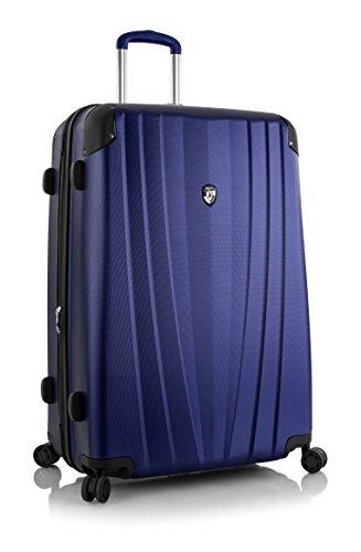 ... 50% SALE ... PREMIUM DESIGNER Hartschalen Koffer - Heys Core Velocity Grau - Trolley mit 4 Rollen Gross Blau