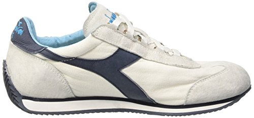 Diadora Equipe Stone Wash 12, Chaussures Basses Mixte Adulte Blanc (White/Ebony)