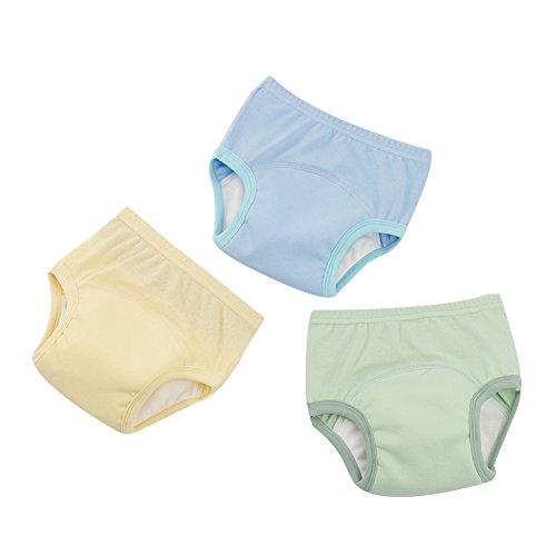 G-Kids 3PCS Baby Mädchen Jungen Trainerhosen Training Pants Windelhöschen Unterhose Waschbare Lernwindel Töpfchentraining, 115-125cm, A
