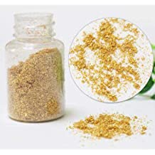 Polvo de oro 24quilates 100% Pure alimentos comestible frasco de 100mg paillette